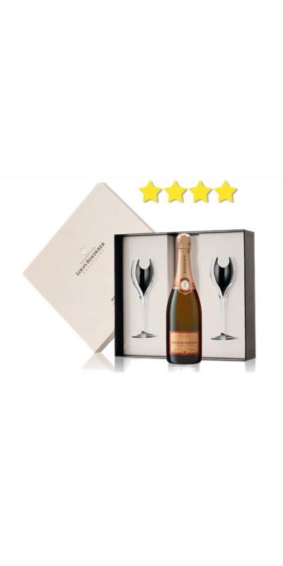 Louis Roederer - Coffret Luxe Brut Rosé + 2 flûtes - Champagne