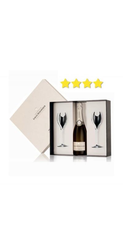 Louis Roederer - Coffret Luxe Brut Premier + 2 flûtes - Champagne