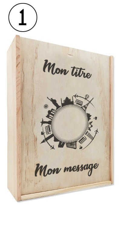 Coffret cadeau bois vin Provence Bio Château Sainte Marguerite + Ecrin Sarladais