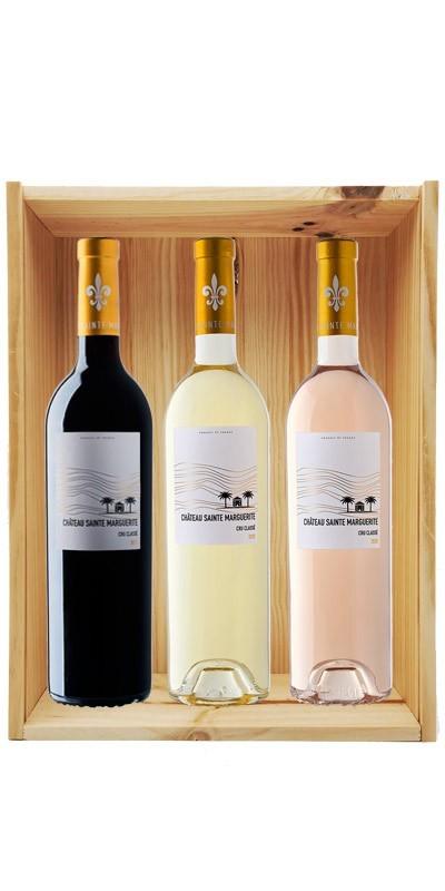 Coffret cadeau bois vin Provence Bio Château Sainte Marguerite