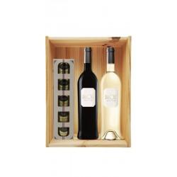 Coffret cadeau bois vin...