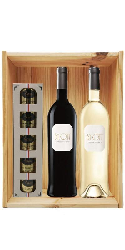 Coffret cadeau bois vin Provence By Ott + 1 Ecrin Sarladais